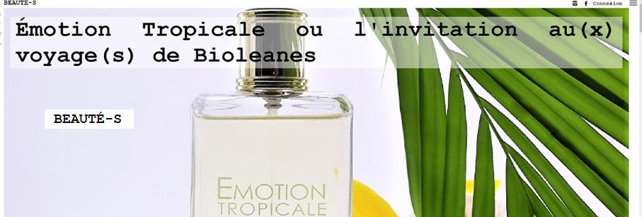 Le blog beauté S parle de l'eau de parfum Bioélanes