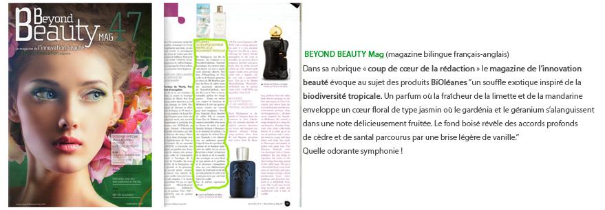 Beyond beauty eau de parfum bioléanes