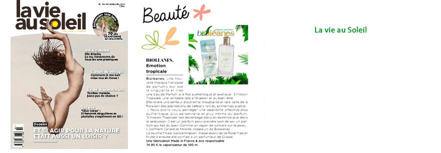 Bioléanes la vie au soleil eau de parfum huiles essentielles
