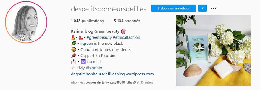 Des petits bonheurs de filles et bioléanes instagram