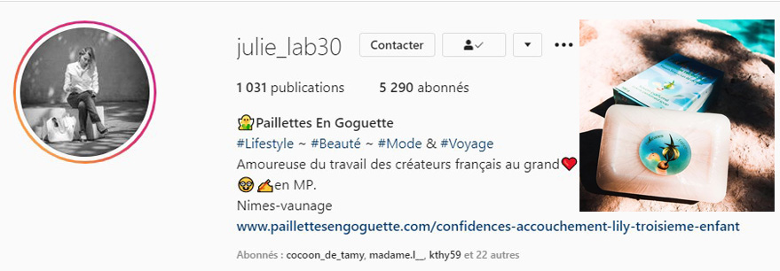 Julie lab 30 instagram parle de Bioléanes