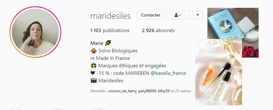 Marie des iles instagram parle de bioléanes