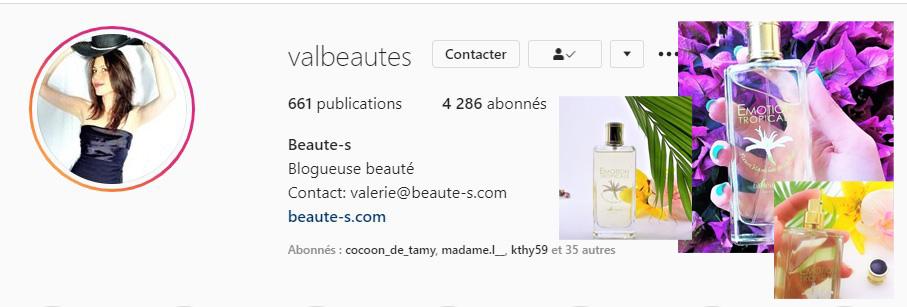 Valbeauté instagram parle de BIoléanes