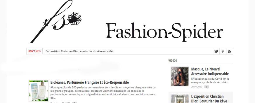 magazine Fashion Spider parle de BIoléanes
